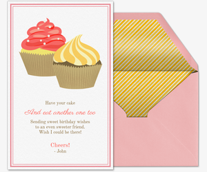 Bday Cupcakes Invitation Premium Design Your Own Portrait