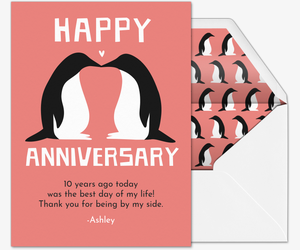 Penguin Kinda Love Card
