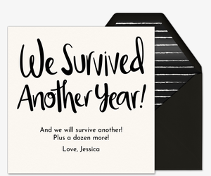 We Survived Another Year Card