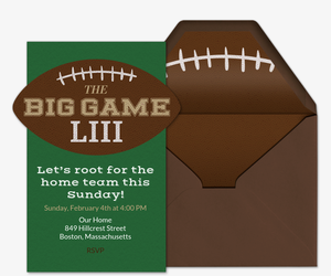 the big game invitation