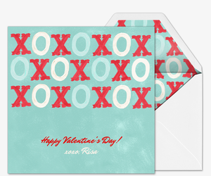 Painted XOs Invitation
