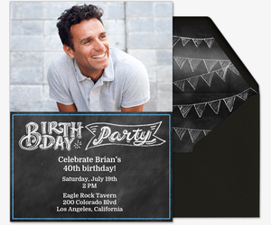 Party In Style Him Invitation