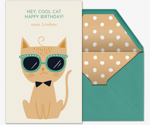 Birthday Cool Cat Invitation