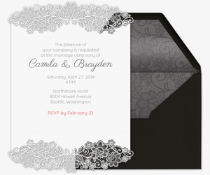 Lace Wedding Ceremony Invitation