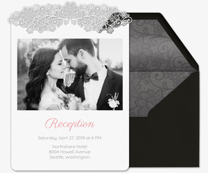 Lace Wedding Reception Invitation