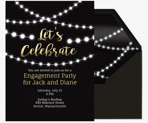 image about Free Printable Engagement Party Invitations referred to as Totally free Engagement Bash Invites Evite