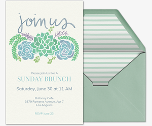 Free Brunch Lunch Party Invitations Evite