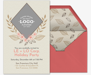 Holiday Flora Invitation