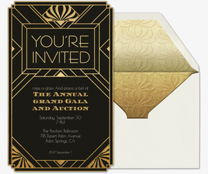 You're Invited Art Deco Invitation