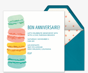 French Macaroons Invitation