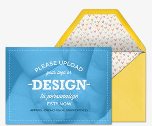 Design Your Own Landscape Baby Invitation
