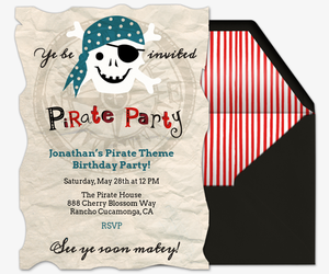 Meri Pirates Invitation
