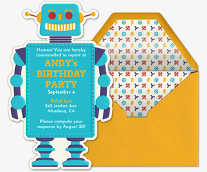 Robot Invite Invitation