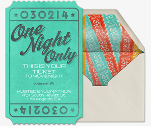 One Night Only Invitation