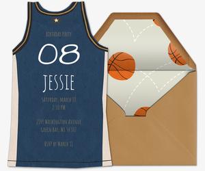 46039084f ... Design Your Own Invitation. Basketball Jersey Blue Invitation