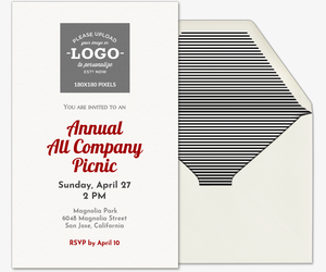 Design Your Own Logo Invitation