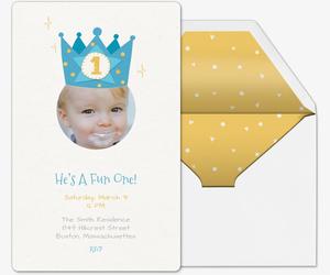 First Birthday Crown Invitation