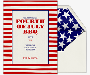 graphic about Free Printable Patriotic Invitations called No cost Fourth of July Occasion Invites Evite