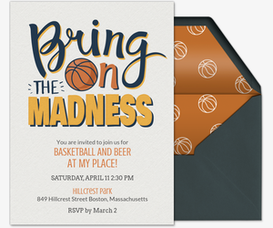 Bring on the Madness Type Invitation