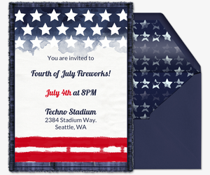 graphic relating to Free Printable Patriotic Invitations identify Totally free Fourth of July Get together Invites Evite
