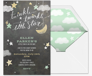 image relating to Free Printable Twinkle Twinkle Little Star Baby Shower Invitations named Cost-free Boy or girl Shower Invites Evite