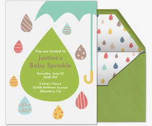 Umbrella Sprinkle Invitation