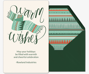 Scarf Warm Wishes Card