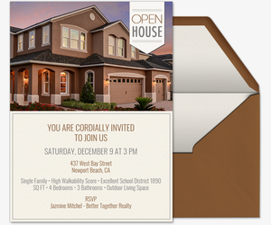 photo relating to Welcome to Our Open House Printable named No cost Open up Area On the internet Invites Evite