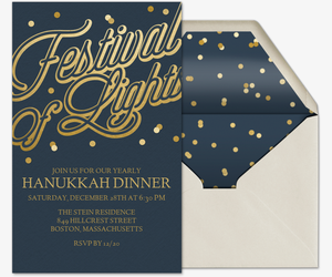 Festival of Lights Invitation
