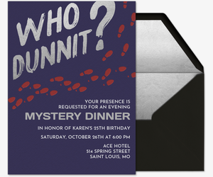 Who Dunnit? Invitation