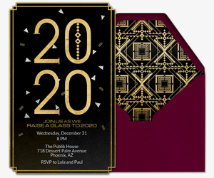 Art Deco 2020 Invitation