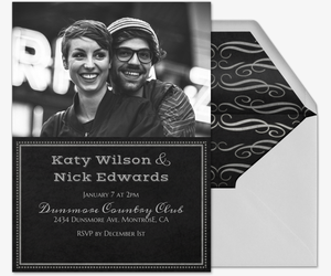 Chalkboard Chic Photo Invitation