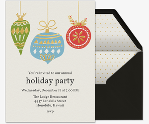Golden Ornaments Invitation