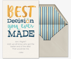 The Best Decision Card
