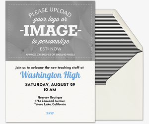 Design Your Own Image Invitation