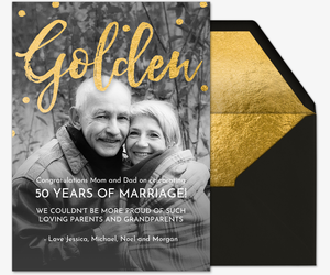 Golden Couple Card