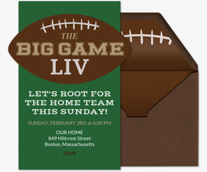 The Big Game Invitation