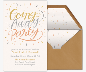 Going Away Party Script Invitation
