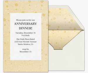 Celebratory Champagne Invitation