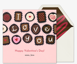 Box of Chocolates Card Card