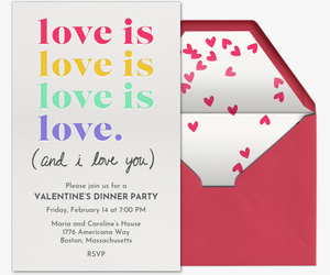 Love is Love is Love Invitation