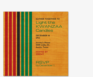 Kwanzaa Candles Invitation