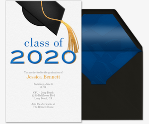 Golden Tassel 2020 Invitation