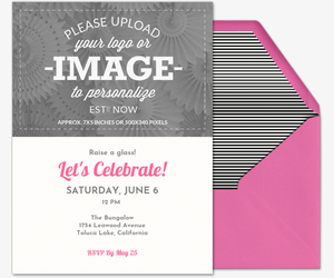 Design Your Own Pink Invitation