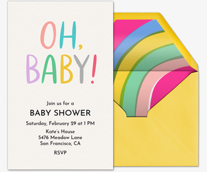 Oh, Baby! Invitation