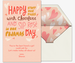 Happy Stuff Our Faces Day Card