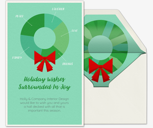 Infographic Wreath Card
