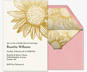 Flower Shower Invitation