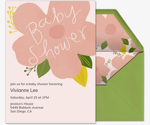 Full Bloom Invitation