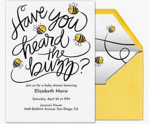 Baby Bee Invitation